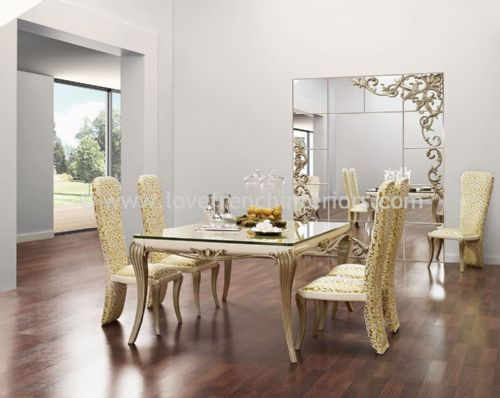 Spacium Dining Collection in Beige and White